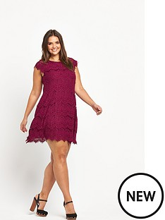 ax-paris-curve-lace-skater-dress