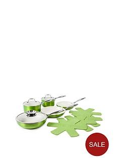 9-piece-ceramic-pro-metallic-pan-set-green