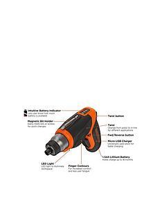 black-decker-cs3653lc-gb-premium-36-volt-cordless-lithium-ion-screwdrivernbspfree-prize-draw-entry