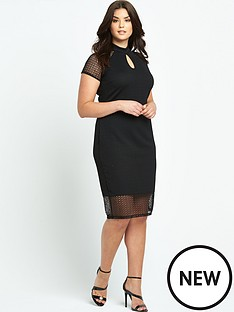 so-fabulous-lace-insert-turtle-neck-bodycon-dress