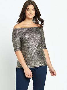 so-fabulous-metallic-crepe-jersey-bardot-top