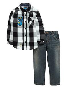 ladybird-toddler-boys-check-shirt-amp-jean-set