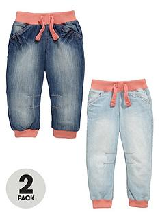ladybird-girls-cuffed-jeans-2-pack