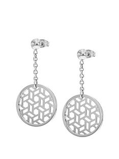 tresor-paris-tresor-paris-white-polished-stainless-steel-drop-earrings