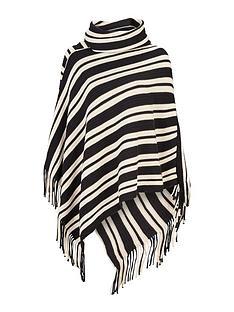 wallis-wallis-assymetric-stripe-poncho