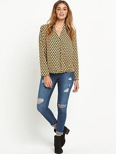 glamorous-long-sleeve-crossover-blouse