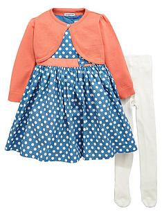 ladybird-girls-spotty-dress-cardigan-and-tights-set-3-piece