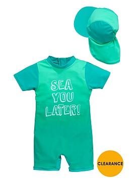 ladybird-boys-slogan-tie-dye-sunsafe-and-hat-set