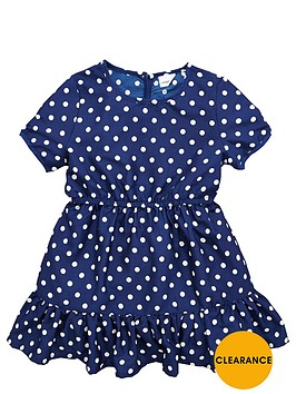 ladybird-girls-spotty-poly-crepe-dress