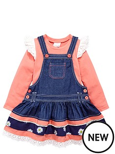 ladybird-girls-denim-pinafore-and-top-set-2-piece