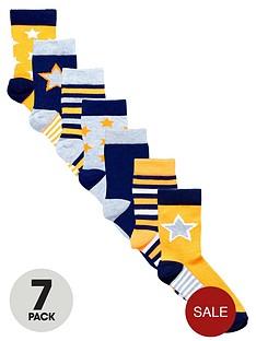 ladybird-boys-neon-star-socks-7-pack