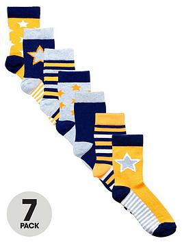 ladybird-boys-neon-star-socks-7-pack
