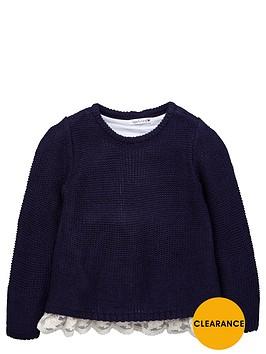 ladybird-girls-lace-hem-knitted-jumper
