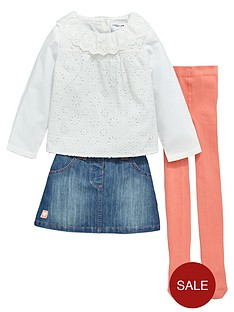ladybird-girls-denim-skirt-lacenbsptop-and-tights-set-3-piece