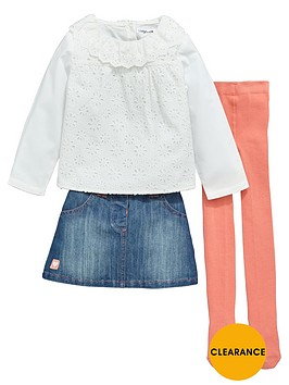 ladybird-girls-denim-skirt-lacenbsptop-and-tights-set-3-piece