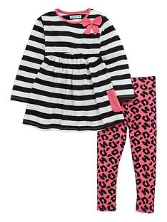 ladybird-girls-stripe-jersey-dress-and-animal-print-leggings-set-2-piece