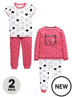 ladybird-girls-cat-pyjamas-2-pack