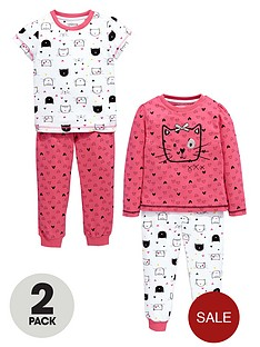 ladybird-girls-cat-pyjamas-2-pack