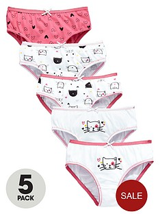 ladybird-girls-cute-cat-knickers-5-pack