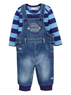 ladybird-baby-boys-denim-monkey-dungarees-and-stripy-top-set-3-piece