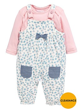 ladybird-baby-girls-floral-jersey-dungarees-with-t-shirt-set-2-piece