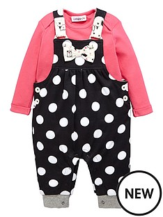 ladybird-baby-girls-polka-dot-jersey-dungaree-amp-ls-t-shirt-set