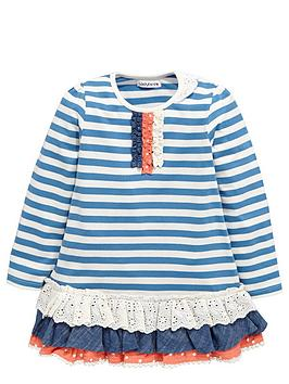 ladybird-girls-craft-stripe-and-schiffli-tunic-top