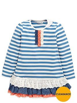ladybird-girls-craft-stripe-and-schiffli-tunic-top