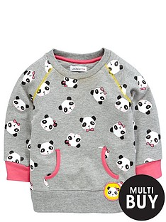 ladybird-girls-panda-print-sweater
