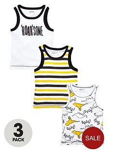 ladybird-boys-roarsomenbspribbed-vests-3-pack