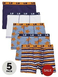 ladybird-boys-neon-and-star-trunks-5-pack
