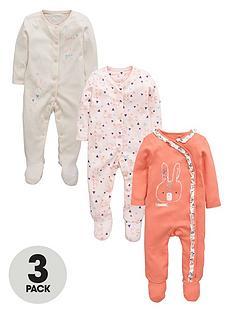 ladybird-baby-girls-bunny-sleepsuitsnbsp3-pack