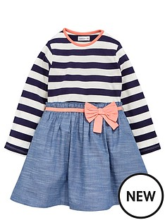 ladybird-toddler-girls-wovenjersey-stripe-dress