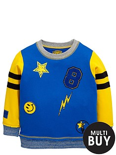 ladybird-toddler-boys-essential-yellow-crew-neck-sweat