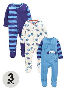 ladybird-baby-boys-monkey-sleepsuitsnbsp3-pack