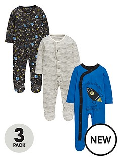 ladybird-baby-boys-space-sleepsuits-3-pack