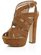 Block Heel Strappy Platform Sandals