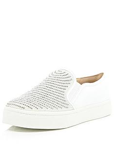 river-island-studded-plimsoll-shoes