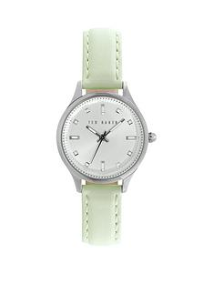 ted-baker-ted-baker-silver-dial-with-crystals-stainless-steel-case-mint-green-leather-strap-ladies-watch