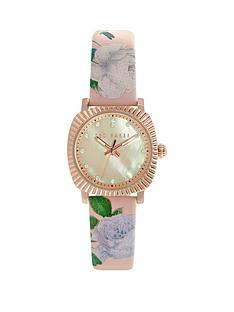 ted-baker-ted-baker-white-mother-of-pearl-dial-rose-gold-case-pink-floral-patent-strap-ladies-watch
