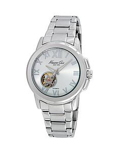 kenneth-cole-kenneth-cole-automatic-silver-dial-stainless-steel-case-and-stainless-steel-bracelet-ladies-watch