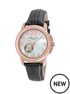 kenneth-cole-kenneth-cole-automatic-silver-dial-with-grey-leather-strap-ladies-watch