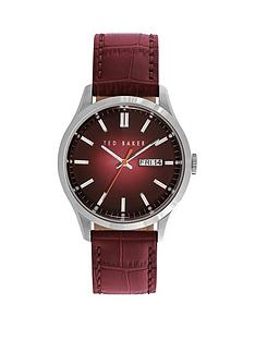 ted-baker-ted-baker-burgundy-dial-stainless-steel-case-with-burgundy-leather-strap-ladies-watch