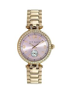ted-baker-ted-baker-pink-dial-hamilton-gold-bezel-with-crystals-gold-bracelet-ladies-watch
