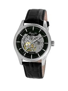 kenneth-cole-kenneth-cole-automatic-black-dial-stainless-steel-case-with-black-leather-strap-mens-watch
