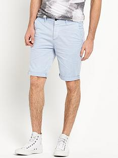 river-island-pale-blue-slim-chino-shorts