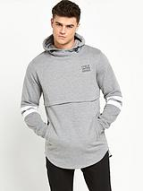 Jack & Jones Remix Long Line Hoody