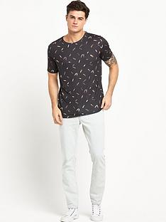 river-island-black-feather-t-shirt