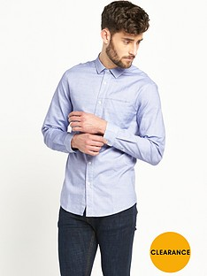 v-by-very-space-dyed-welt-pocket-mens-shirt