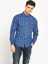 Window Pane Check Mens Shirt